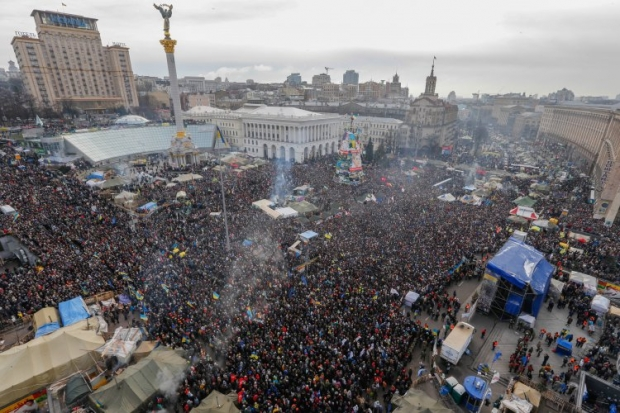 Maidan during the People's Assembly on January 19