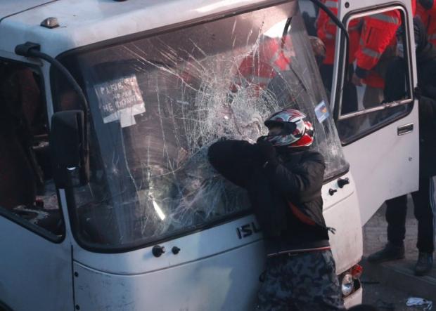 Участник столкновений на Грушевского